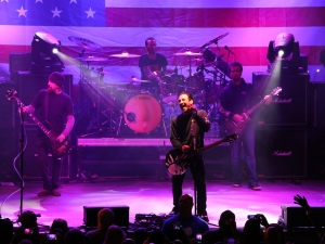 News-Journal/JIM TILLER Sully Erna lead singer for Godsmack belts out a song during a concert at the Full Moon Saloon on Main Street during Bike Week in Daytona Beach Saturday, March 9, 2015