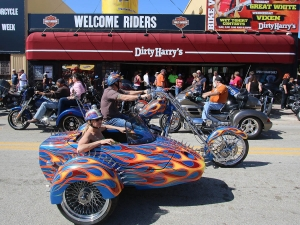 A three wheeled trike rolls down Main Street as Bike Week 2016 rolls toward it's final weekend in Daytona Beach Wednesday, March 9, 2016. News-Journal/JIM TILLER