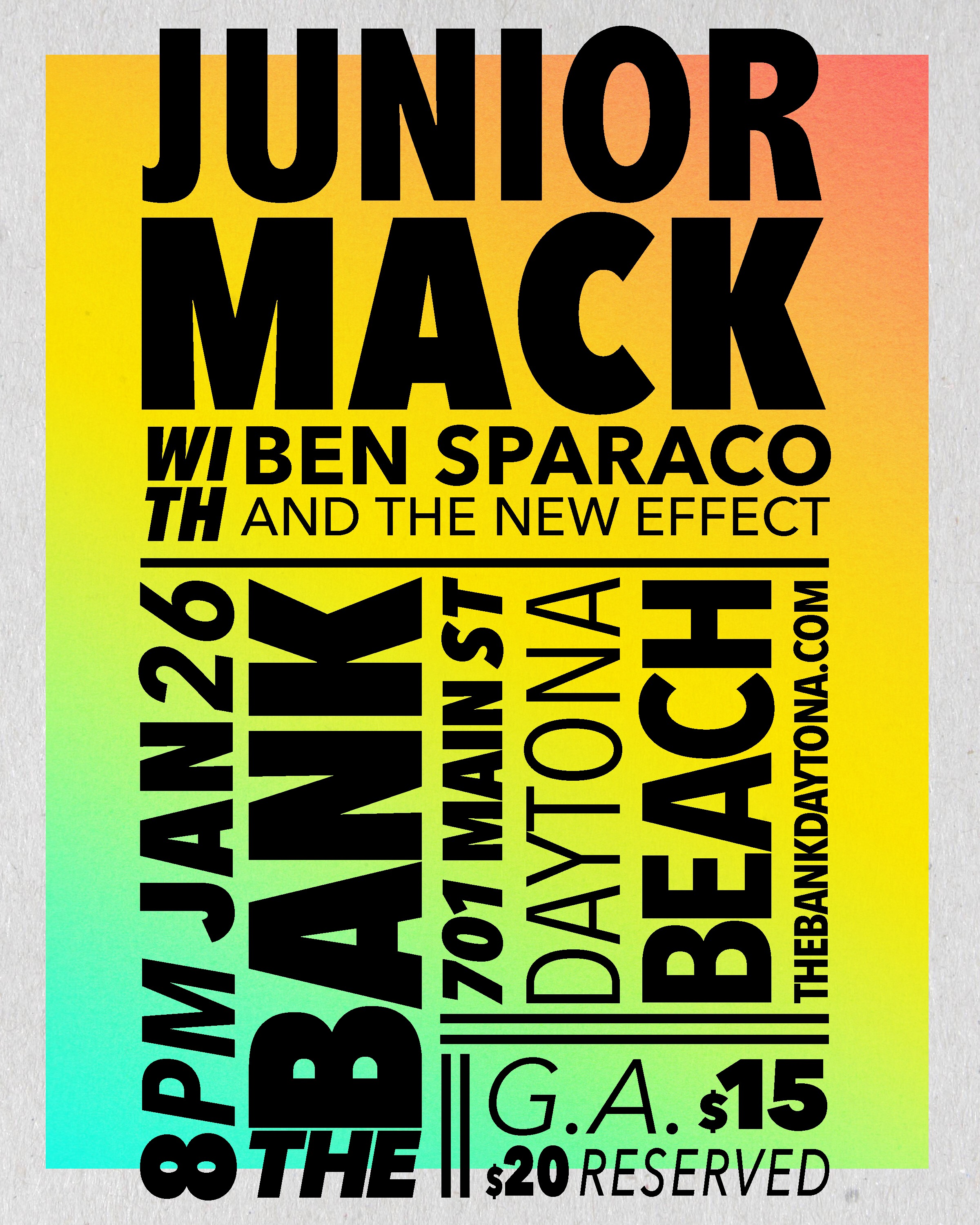 Junior Mack with Ben Sparaco and The New Effect