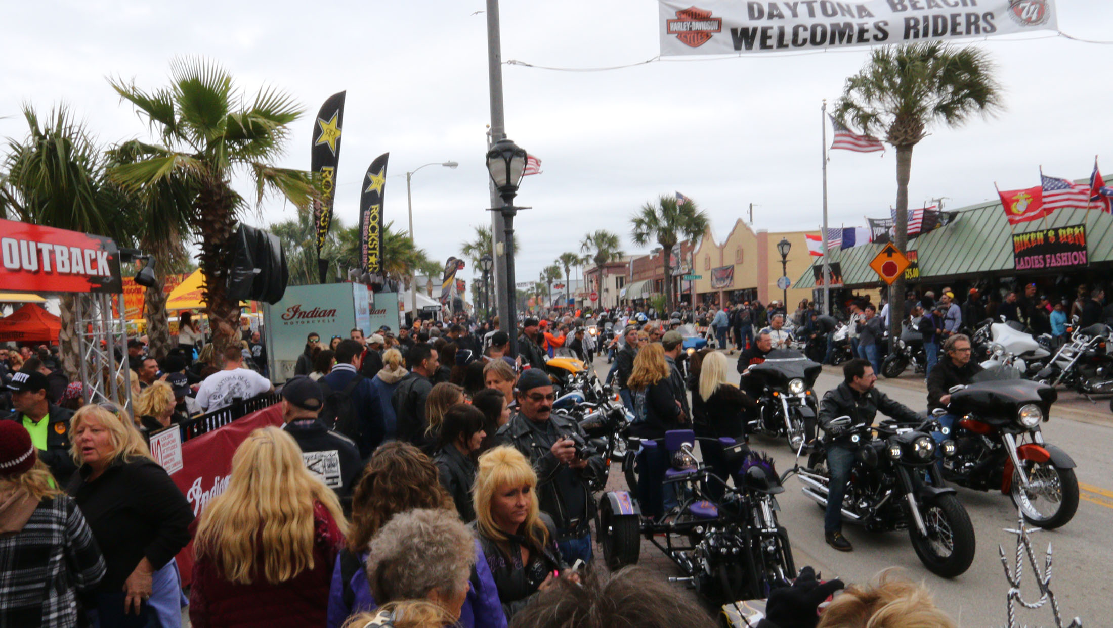 News-Journal/JIM TILLER   The Clydesdales prance west on Main Street  in Daytona Beach on day 2 of Bike Week 2015 Saturday, March 7, 2015.