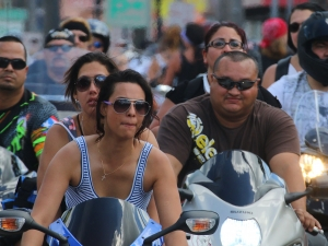 News-Journal/JIM TILLER Bikers jam Main Street on the final big day of Bike Week 2015 in Daytona Beach Saturday , March 14, 2015.