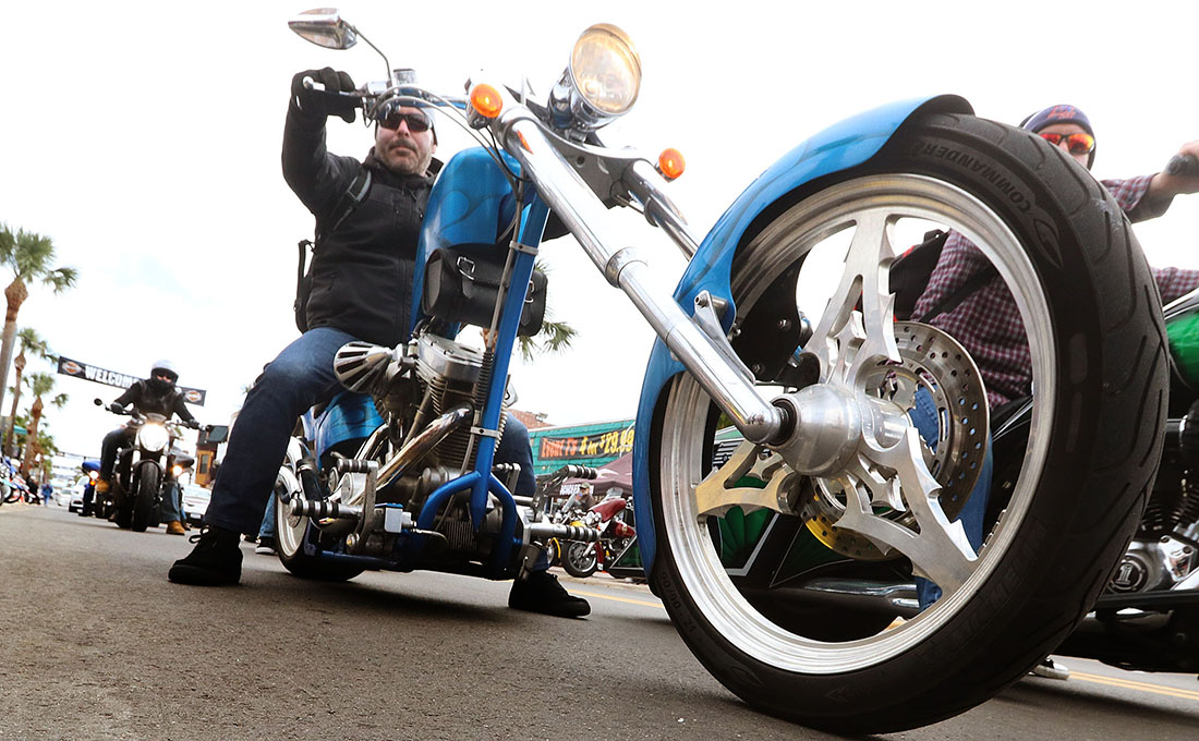Big wheels for big boys as Bike Week 2017 rides into it's final week Tuesday  March 14, 2017. [News-Journal/JIM TILLER]