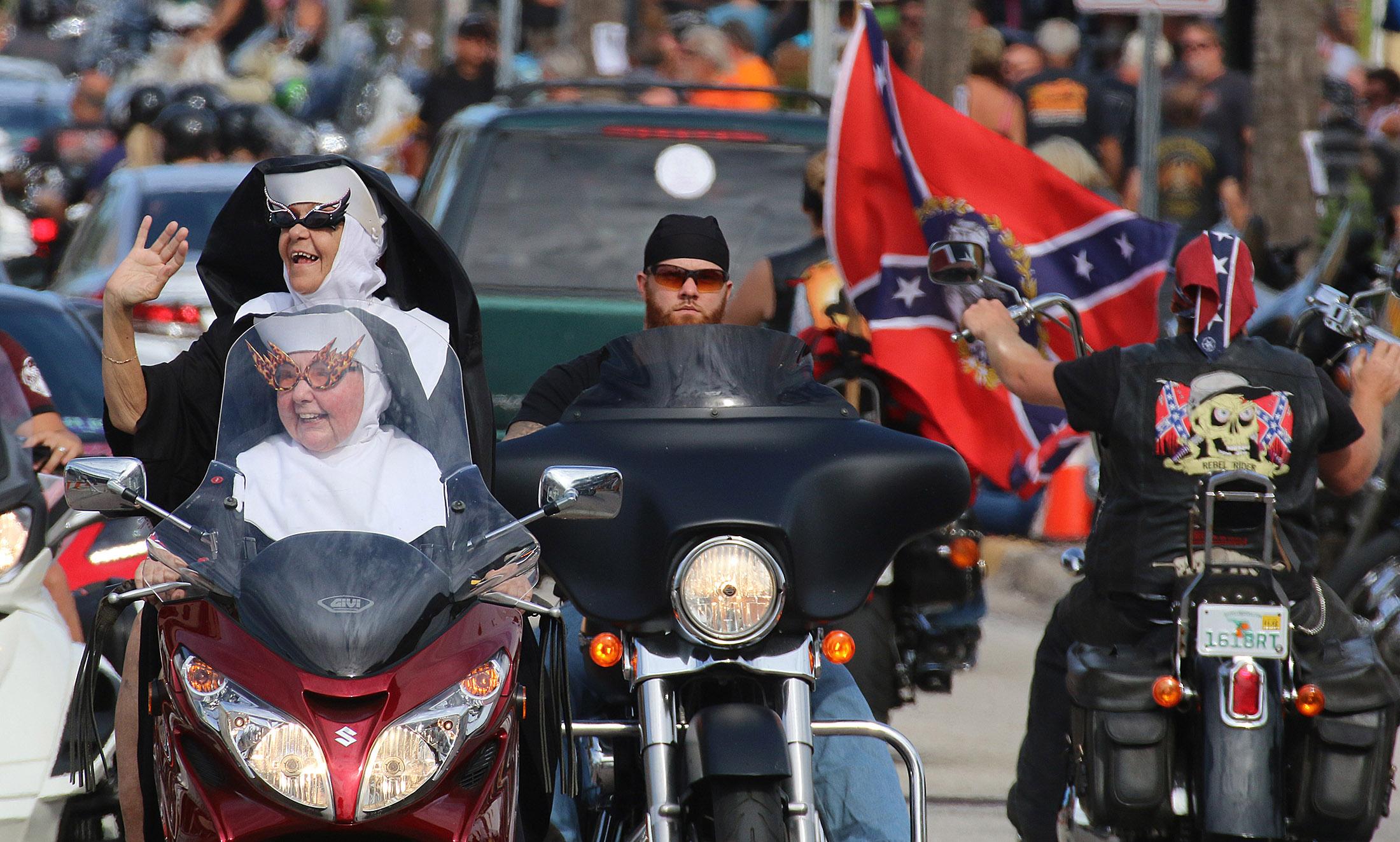 Images from day three of Biketoberfest 2015 on Main Street in Daytona Beach Saturday October 17, 2015. News-Journal/JIM TILLER