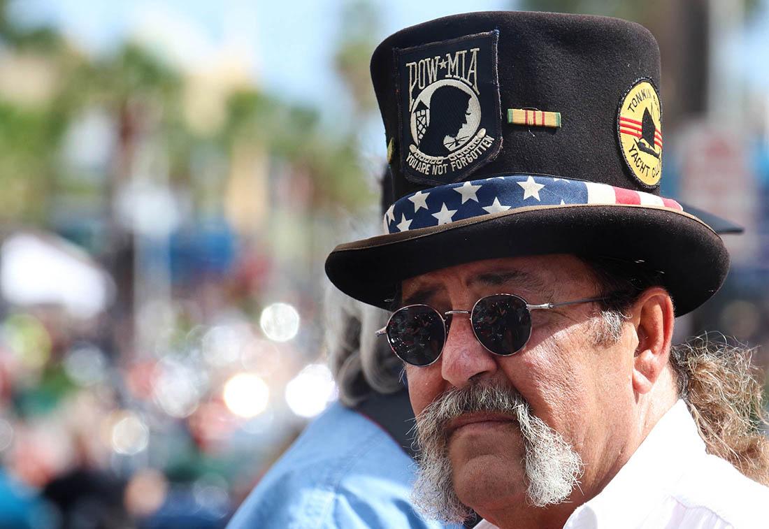Bikers watching bikers watching bikers as Biketoberfest heads into the weekend in Daytona Beach Friday October 20, 2017. [NEWS-JOURNAL/Jim Tiller]