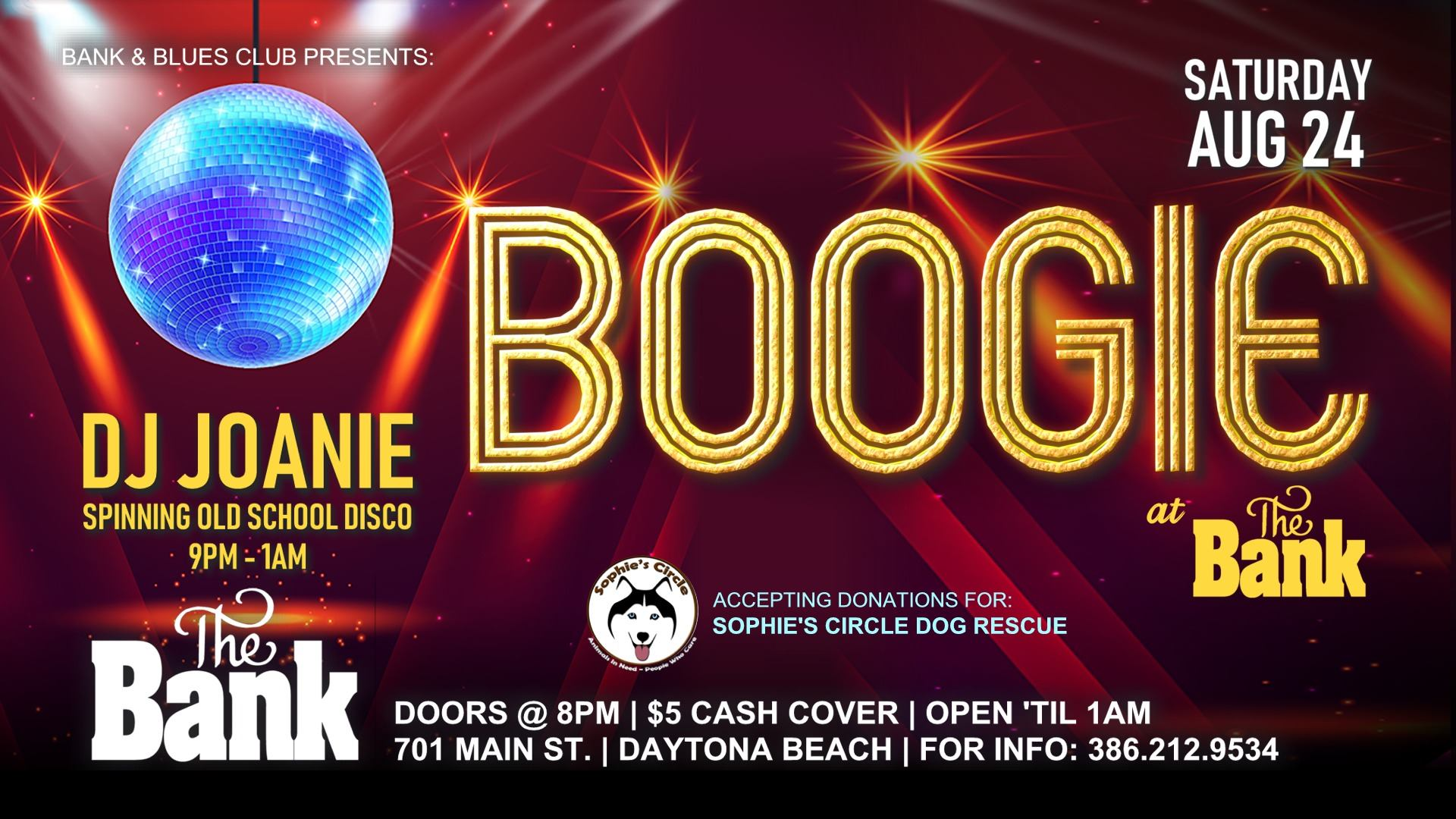 Boogie at The Bank with DJ Joanie